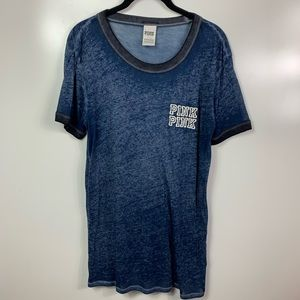 Victorias Secret pink t  shirt large blue